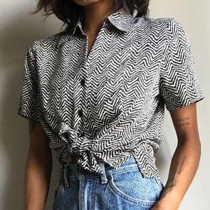 Vintage Liz Baker Button Up